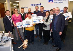 Spende Volksbank an Tierschutzverein Barsinghausen