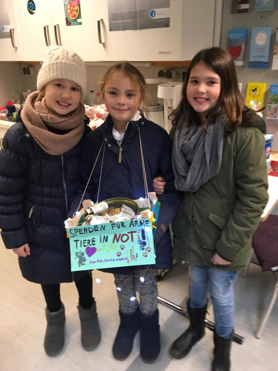 Kinder sammeln für den Tierschutzverein Barsinghausen